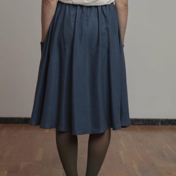 Falda azul TENCEL