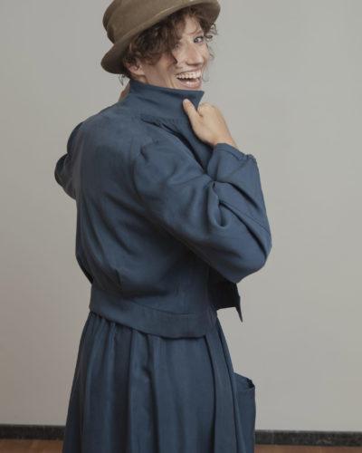 Cazadora azul
