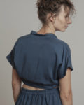Cropped top azul