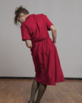 Falda roja Tencel
