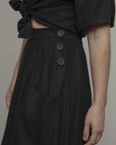 Camisa nudo negra