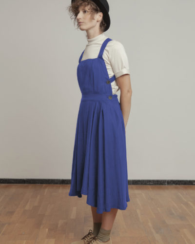 Vestido azul ropa de trabajo