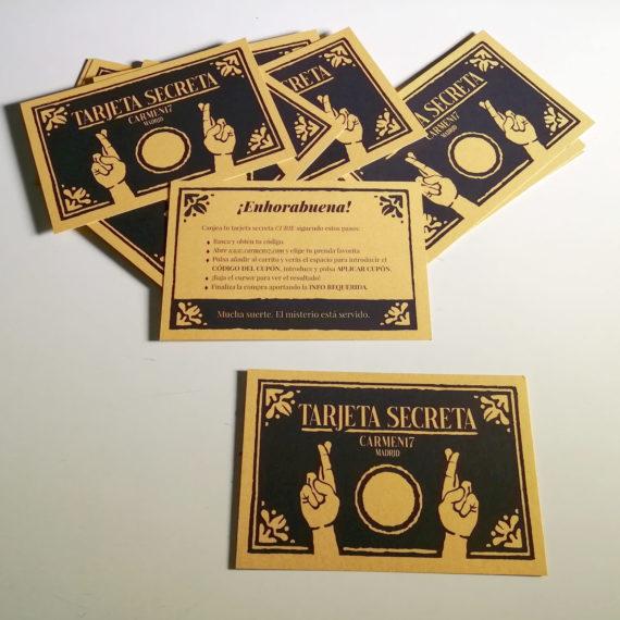 tarjeta secreta sencilla