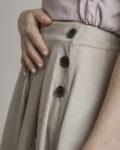 Falda Tencel beige