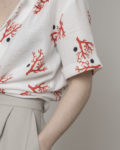 Camisa nudo coral con lunar