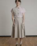 Falda tencel color beige CURIE Bolsillos XL
