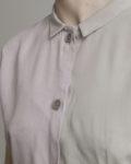cropped top bicolor cuello beige