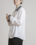 camisa manga larga blanca seerigrafia