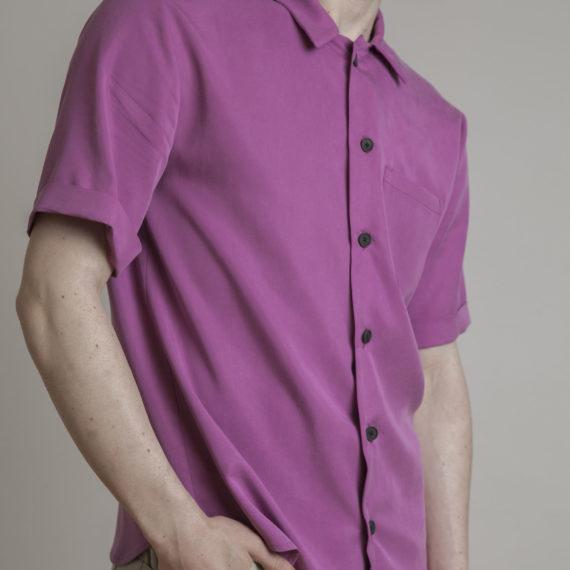 camisa tencel fuscisa manga corta