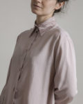 camisa viscosa manga larga cuello serigrafia