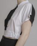 cropped top cuello blanco