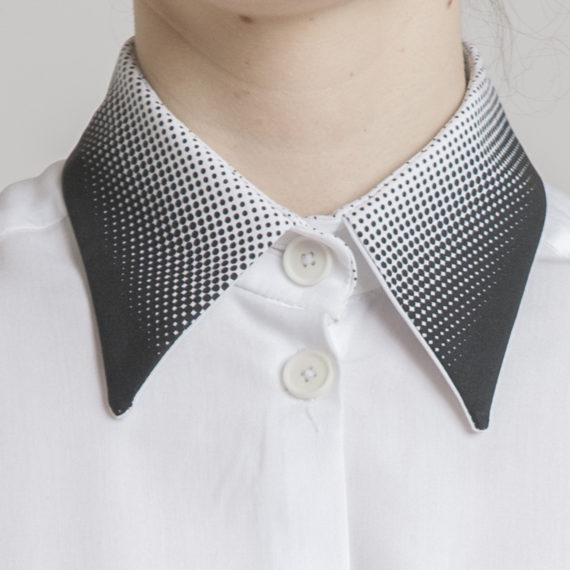 detalle cuello macro blanco