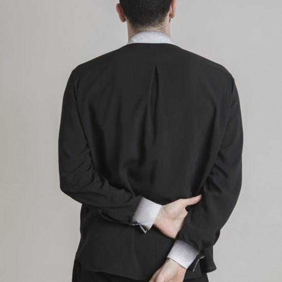 espalda con pliegue