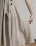falda beige tejido tencel