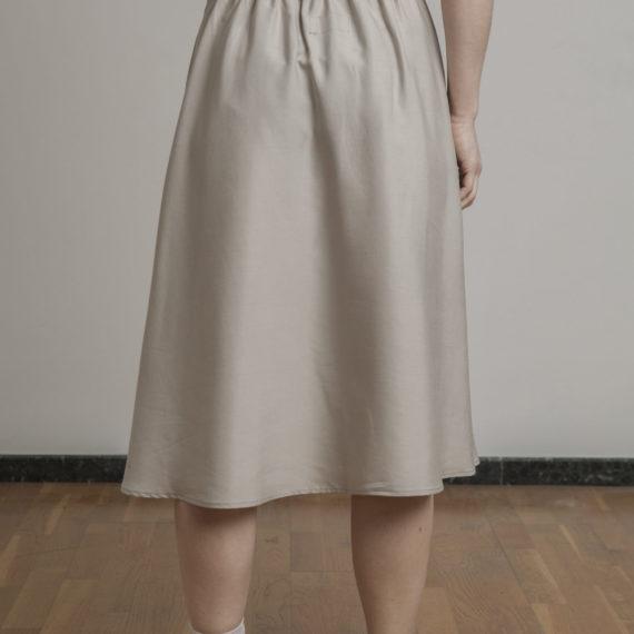 falda tencel color beige CURIE
