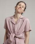 camisa nudo rosa palo