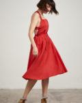 vestido peto rojo
