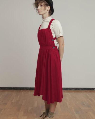 Vestido tencel rojo