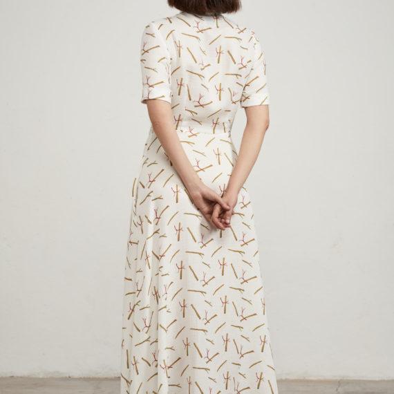 vestido camisero palos